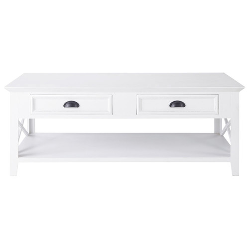 Table basse en bois blanche l 120 cm newport maisons du - Table basse maison du monde occasion ...
