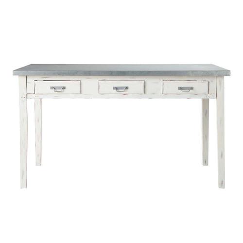 table de salle manger en bois grise l 140 cm sorgues maisons du monde. Black Bedroom Furniture Sets. Home Design Ideas