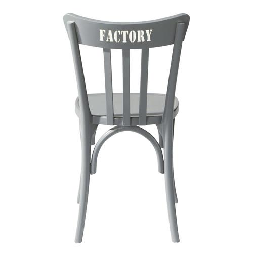 chaise en bois grise campus maisons du monde. Black Bedroom Furniture Sets. Home Design Ideas