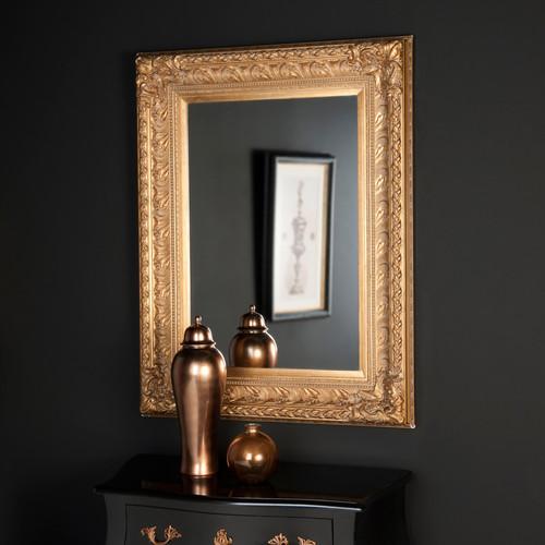 miroir marquise or 125x95 maisons du monde. Black Bedroom Furniture Sets. Home Design Ideas