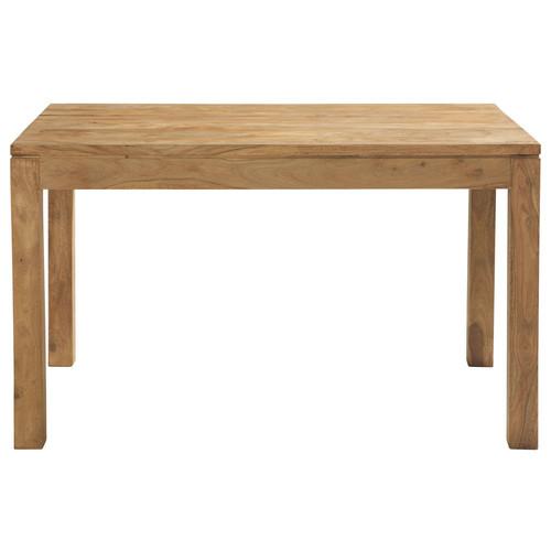 Table de salle manger en bois de sheesham massif l 130 cm stockholm maiso - Bois sheesham massif ...