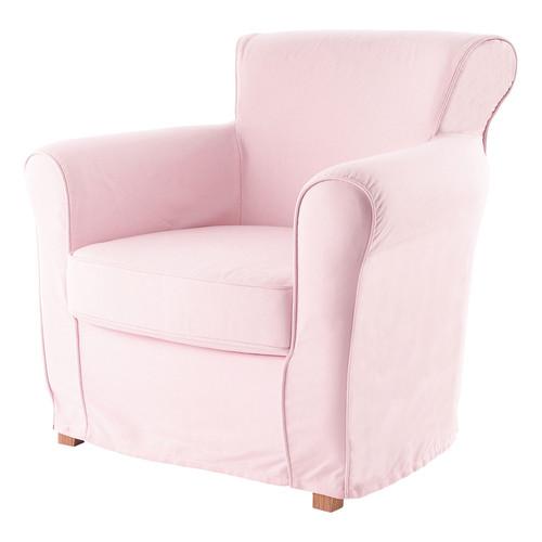 Fauteuil enfant en coton rose pastel maisons du monde - Fauteuil enfant rose ...