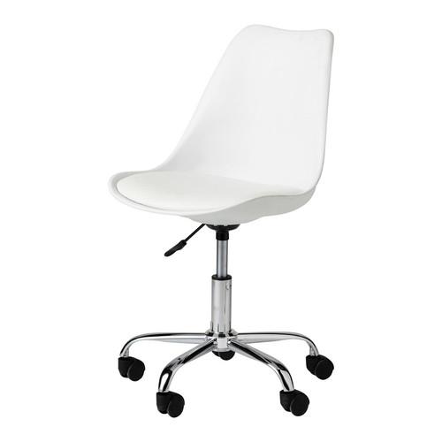 Chaise de bureau blanche bristol maisons du monde for Chaise de bureau jaune