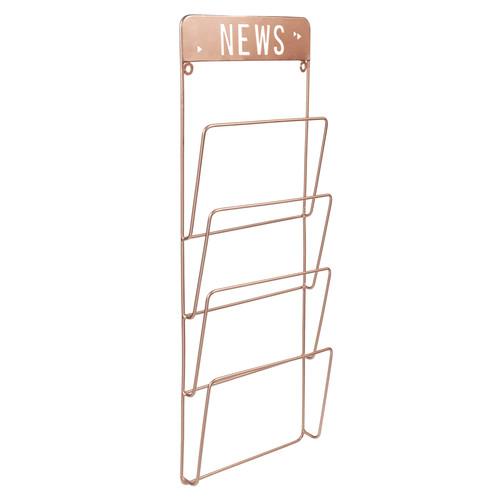 Porte revues mural en m tal cuivr h 65 cm copper news - Magazine maison du monde ...