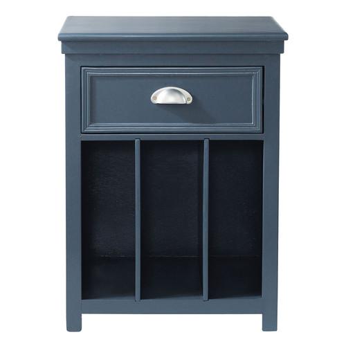 Table de chevet avec tiroir en bois gris l 35 cm newport maisons du monde - Chevet tiroir a suspendre ...