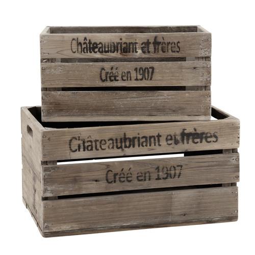 Caisse En Bois Maison Du Monde : caisses en bois 25 x 40 cm et 32 x 48 cm CH?TEAUBRIANT Maisons du