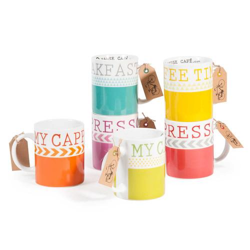 6 mugs en fa ence nordicolor - Maison du monde forum des halles ...