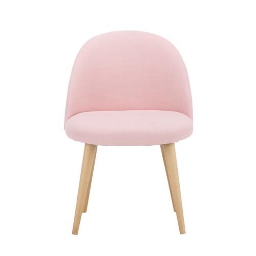 Chaise vintage enfant en tissu et bouleau massif rose for Chaise pour chambre adulte