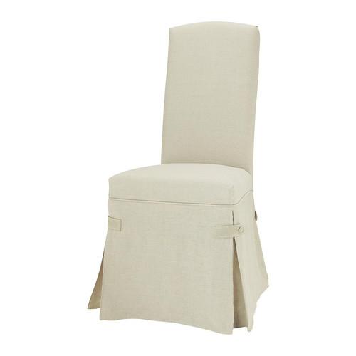 Housse longue de chaise en lin - Housse chaise lin ...