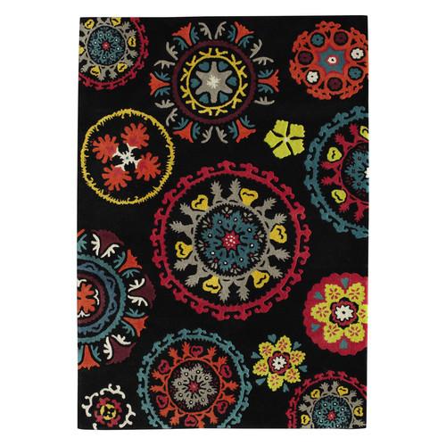 Tapis en laine multicolore 140 x 200 cm guatama maisons du monde - Tapis laine multicolore ...