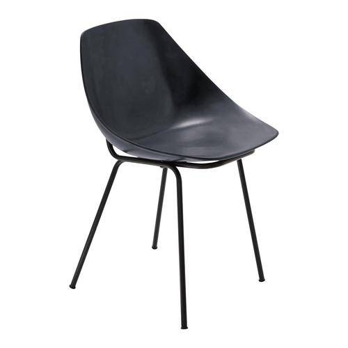 Chaise gris anthracite guariche coquillage maisons du monde - Chaise gris anthracite ...