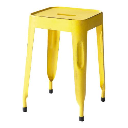 Tabouret indus en m tal jaune - Tabouret industriel maison du monde ...