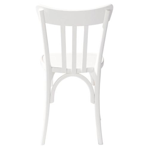 chaise en bois blanche campus maisons du monde. Black Bedroom Furniture Sets. Home Design Ideas