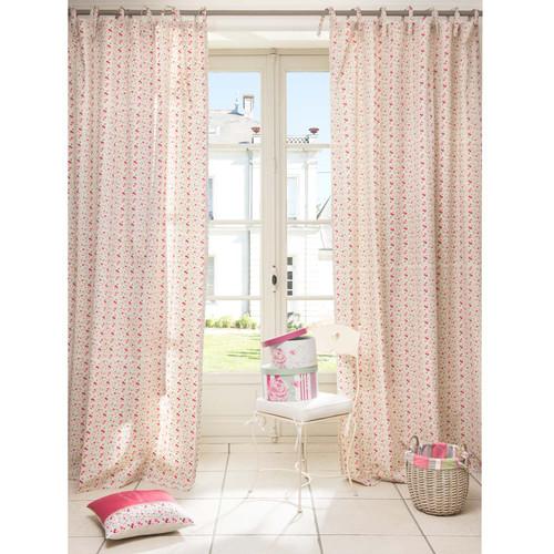 rideau motif fleuri en coton 140 x 250 cm grasse. Black Bedroom Furniture Sets. Home Design Ideas
