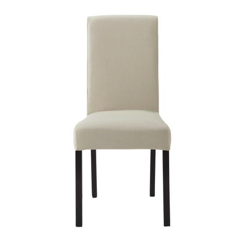 housse de chaise en coton mastic margaux maisons du monde. Black Bedroom Furniture Sets. Home Design Ideas