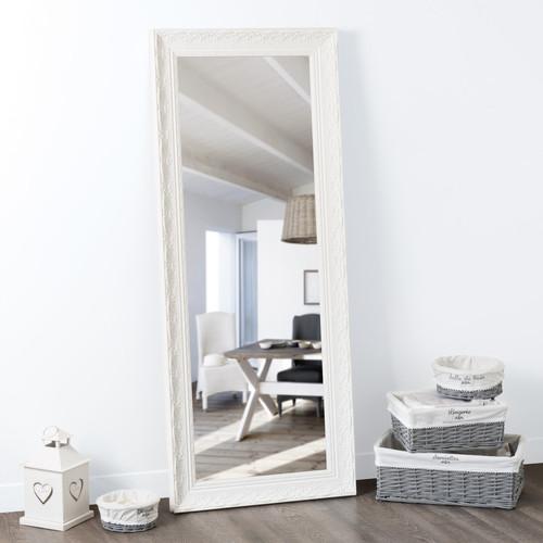 miroir en bois blanc h 145 cm valentine maisons du monde. Black Bedroom Furniture Sets. Home Design Ideas