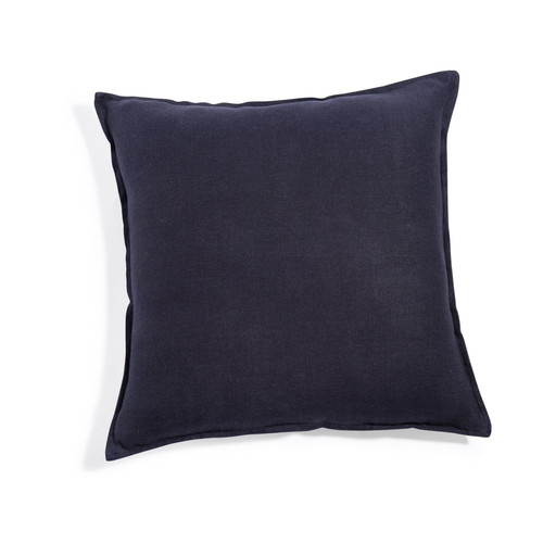 coussin en lin lav bleu marine 45 x 45 cm maisons du monde. Black Bedroom Furniture Sets. Home Design Ideas