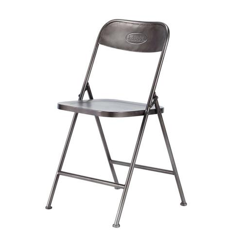 chaise pliante noire edison maisons du monde. Black Bedroom Furniture Sets. Home Design Ideas