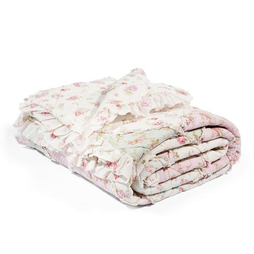 boutis fleurs en coton 240 x 260 cm ashley maisons du monde. Black Bedroom Furniture Sets. Home Design Ideas