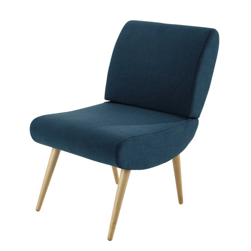 fauteuil vintage en tissu bleu canard cosmos maisons du monde. Black Bedroom Furniture Sets. Home Design Ideas