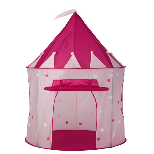 tente enfant ch teau en tissu rose 100 x 130 cm princesse. Black Bedroom Furniture Sets. Home Design Ideas