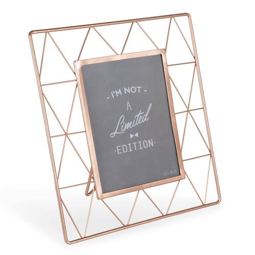 Cadre photo en m tal cuivr 24 x 27 cm graphic copper - Maison du monde cadre photo ...