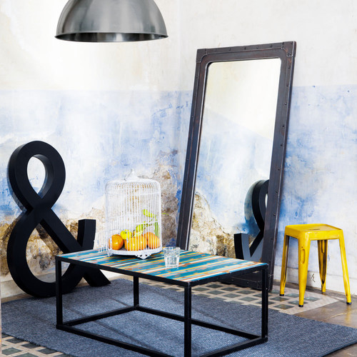 Miroir Bois Maison Du Monde : Miroir en bois effet m?tal H 167 cm GUSTAVE Maisons du Monde