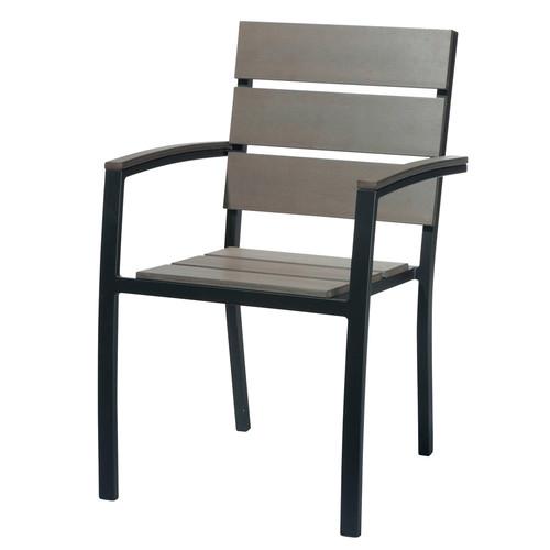 fauteuil de jardin en aluminium anthracite escale maisons du monde. Black Bedroom Furniture Sets. Home Design Ideas