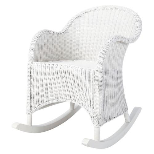 rocking chair enfant en rotin blanc oc an maisons du monde. Black Bedroom Furniture Sets. Home Design Ideas