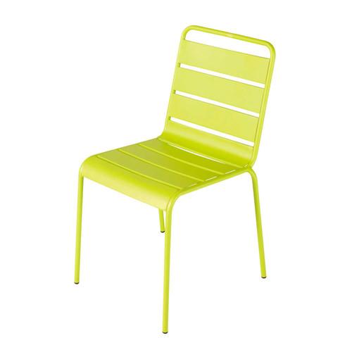 Chaise de jardin en m tal verte batignoles maisons du monde - Chaise de jardin en metal ...