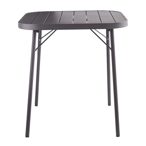 Table Pliante De Jardin En M Tal Gris Ardoise L 70 Cm Soledad Maisons Du Monde