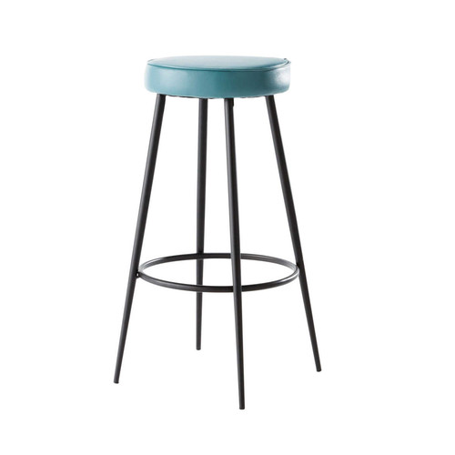 tabouret de bar bleu caps maisons du monde. Black Bedroom Furniture Sets. Home Design Ideas