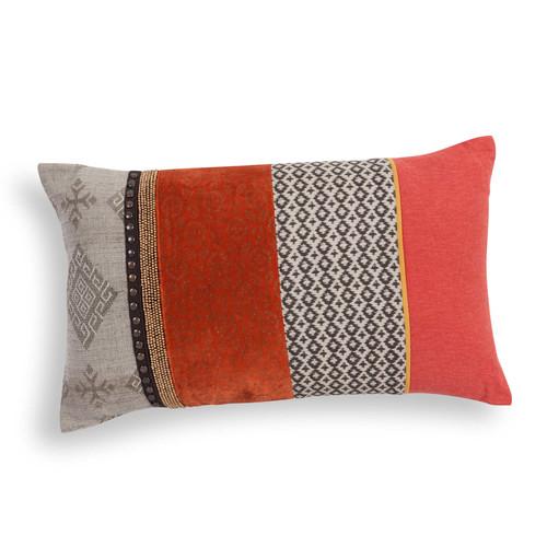 housse de coussin en coton orange 30 x 50 cm mansur. Black Bedroom Furniture Sets. Home Design Ideas