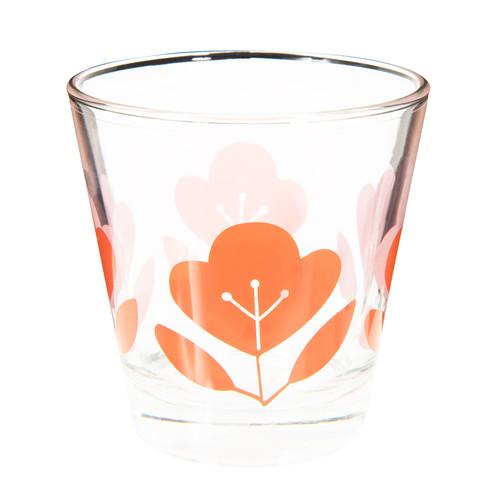 gobelet en verre orange fleur vintage maisons du monde. Black Bedroom Furniture Sets. Home Design Ideas