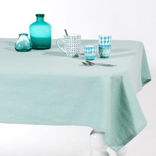 Nappe en coton bleue 150 x 250 cm aqua - Maison du monde forum des halles ...