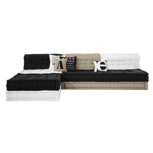 banquette d 39 angle 4 places en coton tricolore street graphic maisons du monde. Black Bedroom Furniture Sets. Home Design Ideas