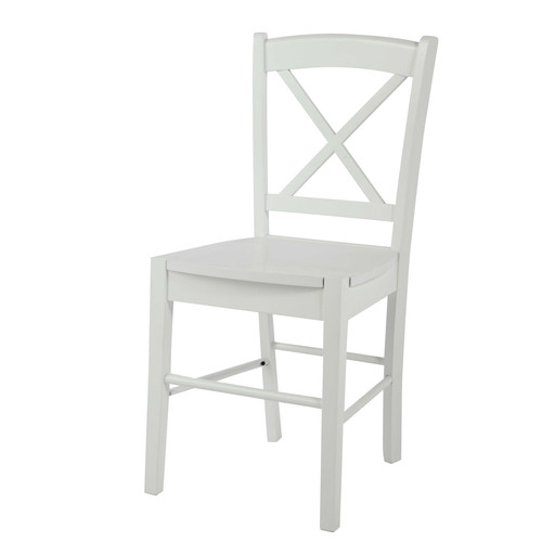Chaise en h v a blanche - Maison du monde chaise de bar ...