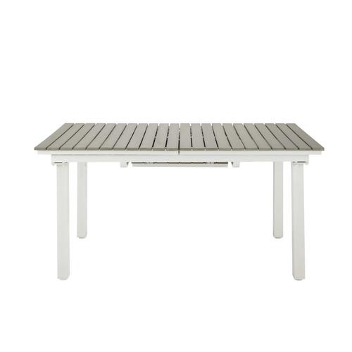 Table à rallonge de jardin en composite imitation bois et  ~ Composite Imitation Bois