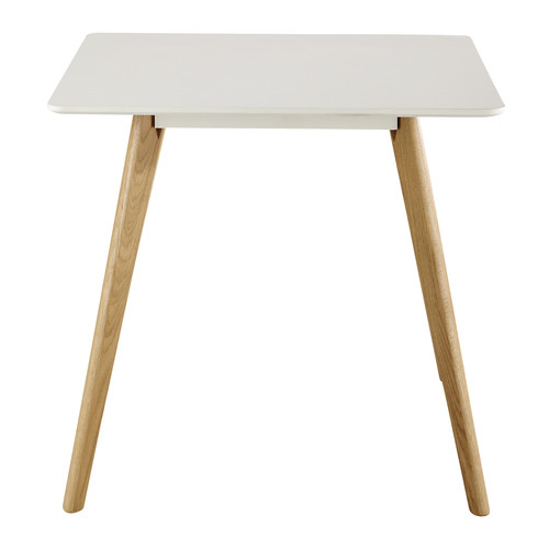 Table carr e de salle manger blanche l 80 cm june for Table a manger carree blanche