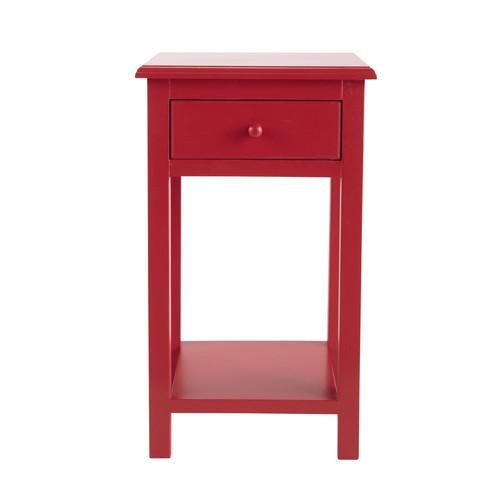 Table de chevet enfant avec tiroir en bois rouge l 35 cm coccinelle maisons - Chevet tiroir a suspendre ...