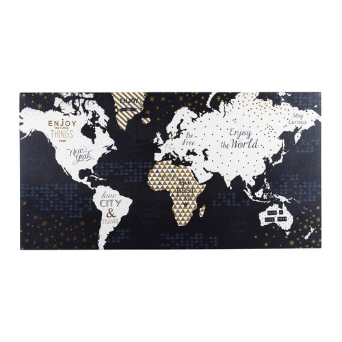 toile carte du monde 50 x 98 cm shiny world maisons du monde. Black Bedroom Furniture Sets. Home Design Ideas