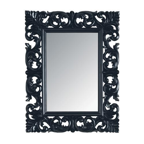 Specchio rivoli nero 90x70 maisons du monde for Specchio cornice nera barocca
