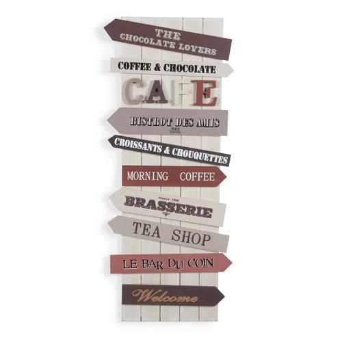 Tableau panneaux de direction caf Design panneaux deco en lamelles de bois