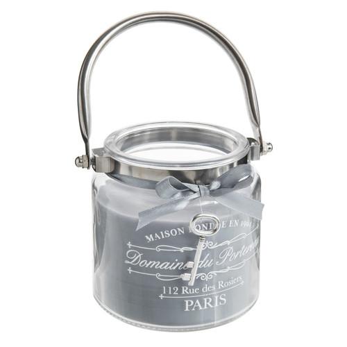 Bougie lanterne grise h 10 cm aristo maisons du monde - Lanterne maison du monde ...