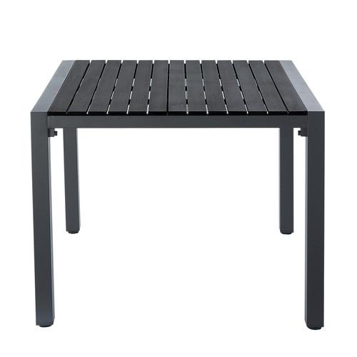 Table de jardin noire carr e - Table carree jardin ...