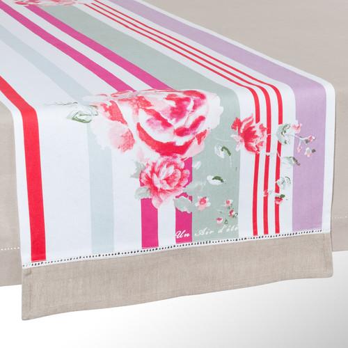 chemin de table ray rose. Black Bedroom Furniture Sets. Home Design Ideas