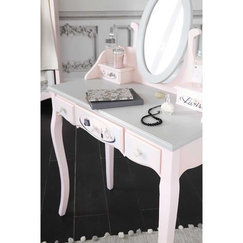 schminktisch aus holz b 82 cm rosa paris mode maisons. Black Bedroom Furniture Sets. Home Design Ideas