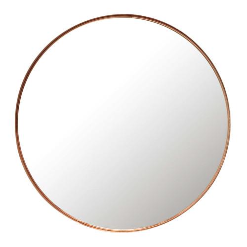 Miroir en m tal cuivr d 55 cm cassy maisons du monde for Miroir rond chambre