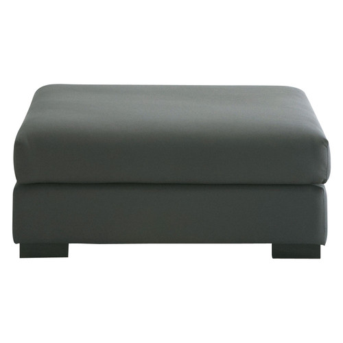 pouf de canap modulable en coton gris ardoise terence maisons du monde. Black Bedroom Furniture Sets. Home Design Ideas