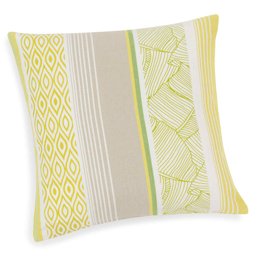 housse de coussin en coton vert jaune 40 x 40 cm malajaya maisons du monde. Black Bedroom Furniture Sets. Home Design Ideas